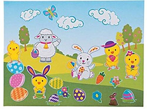 12 - Large Make Easter Bunny Sticker Scenes