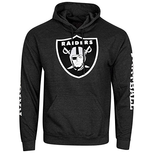 Majestic SIDEPRINT Hoody - Oakland Raiders black - XL - Oakland Raider Hoody Sweatshirt