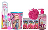 JoJo Siwa 12pc Girls All Inclusive Bathroom Collection! Toothbrush, Brushing Timer, Rinse Cup, Bath Scrubby, Facial Tissue & Sparkle Hand Soap!