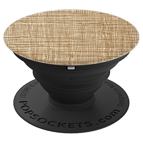 Woven Wicker Basket Tan Weave Design - PopSockets Grip and Stand for Phones and ()