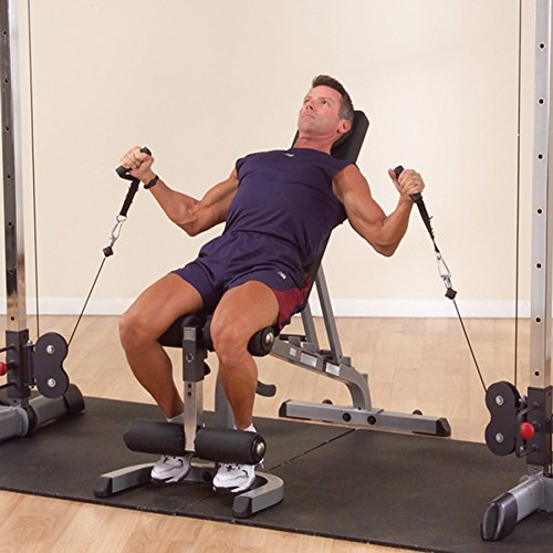 Body Solid GDCC250 Deluxe Cable Crossover (Functional Trainer) with two premium RED stacks