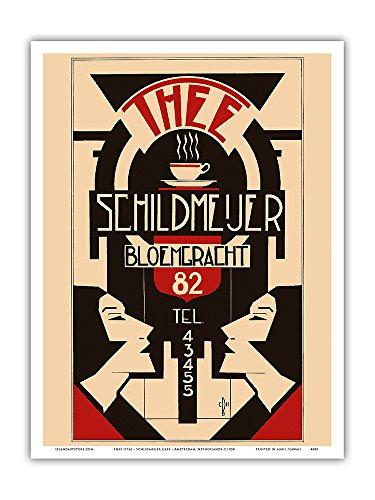 Thee (Tea) - Schildmeijer Cafe - Amsterdam, Netherlands - Art Deco - Vintage Advertising Poster c.1930 - Master Art Print - 9in x - Print Advertising Vintage Deco Art