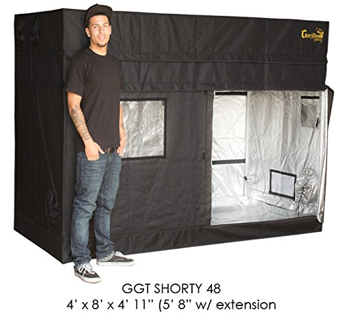 Gorilla Grow Tent Shorty 4 x 8 w/9'' Extension Kit 2018 Model by Gorilla Grow Tent