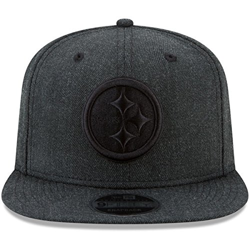 New Era NFL Pittsburgh Steelers Total Tone 9Fifty of Snapback Cap, One Size, Black
