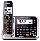 Panasonic Link2Cell KX-TG7875S DECT 6.0 1-Line Bluetooth Cordless Phone with Enhanced Noise Reduction & Digital Answering Machine - 5 Handsets, Black/Silver