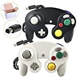 Poulep 2 Packs Classic NGC Wired Controllers for Wii Gamecube (Black1 and White1) Review
