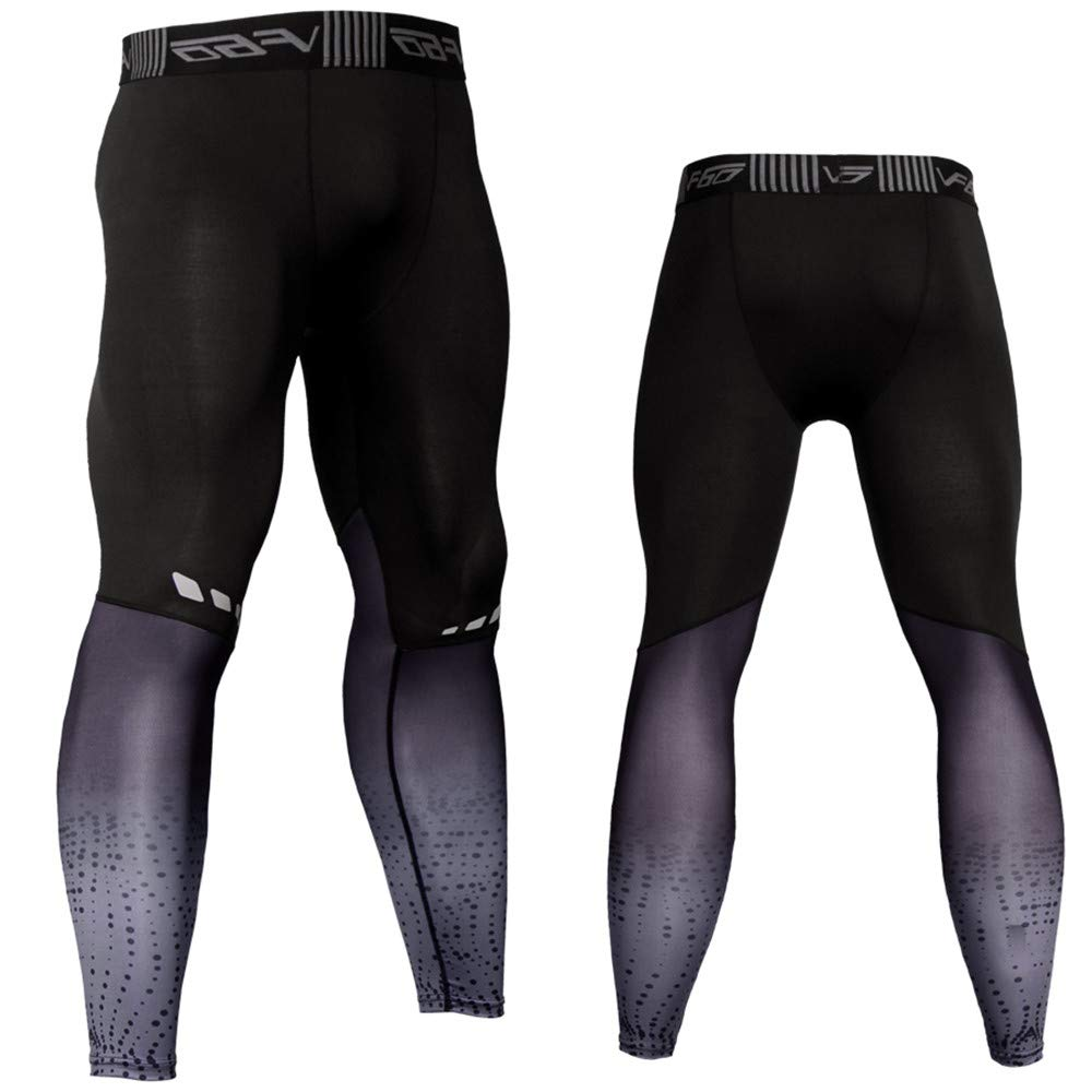Ginli UOMOGO Leggings Sportivi Uomo - Maglia Eleganti Leggings Sport Opaco Yoga Fitness Spandex Palestra Pantaloni Leggins