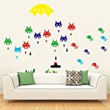 funlife® Space Invaders Robot DIY Kids Room Decoration Wall Stickers