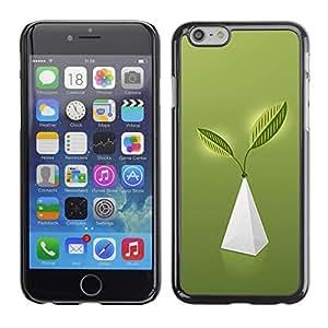 GIFT CHOICE / Teléfono Estuche protector Duro Cáscara Funda Cubierta Caso / Hard Case for Apple Iphone 6 Plus 5.5 // Blue Geometric Pyramid Pattern //