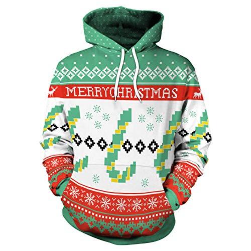 (Fashspo Unisex Teens Snowflake Full Color Merry Christmas Print Cool Hoodie Fleece Sweatshirt for Young Girls & Boys, Large)