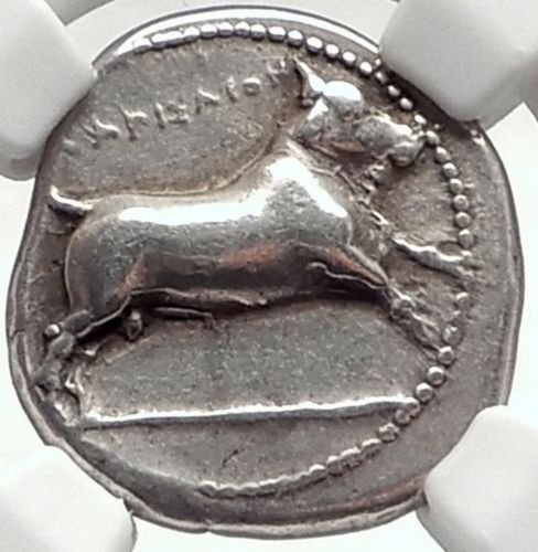 GR 380-350 BC Ancient Greece Antique Silver Greek Coin AR Drachm Choice Very Fine NGC (Coin Rare Very)