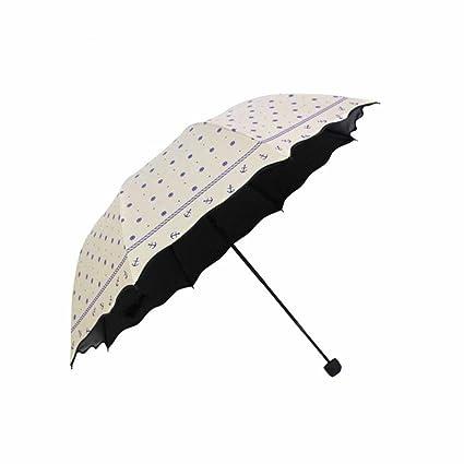 Kaxima De Lunares, Vinilo Paraguas, Paraguas Plegable, Paraguas abovedado, Protección UV,