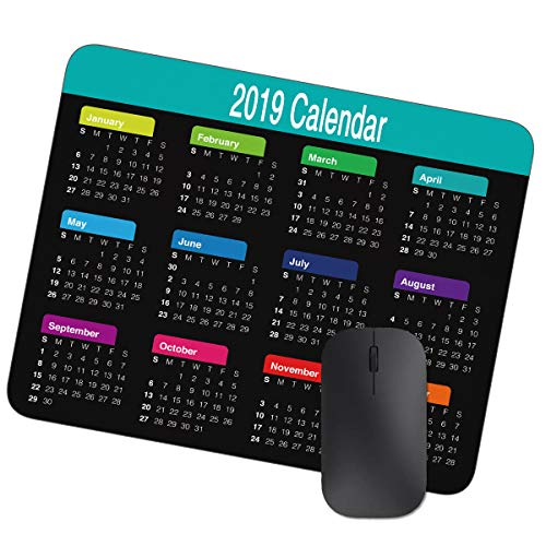 2019 Calendar Mouse Pad (Black) -