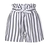 Inkach---- Womens Casual Losse Shorts - Drawstring Elastic Waist Stripe Prined Short Pants with Pocket Beach Shorts