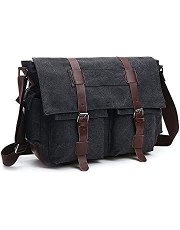 001e1de726be2 LOSMILE Shoulder Bag, Men's Messenger Bags, 16 Inches Vintage Military  Canvas Laptop Bag for