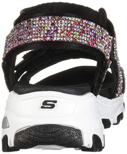 Skechers Damen D'Lites Bright Sport Sandale mit Strasssteinen, Viertelriemen