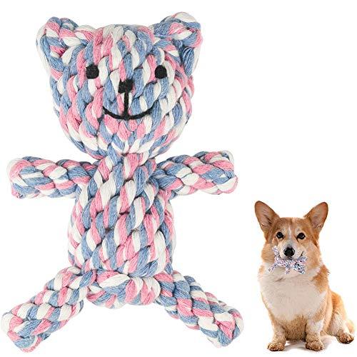 MEKEET Hundespielzeug Hundekauen Spielzeug Welpen Langeweile Natürliche Baumwolle Zahnreinigung Chew Spielzeug für…