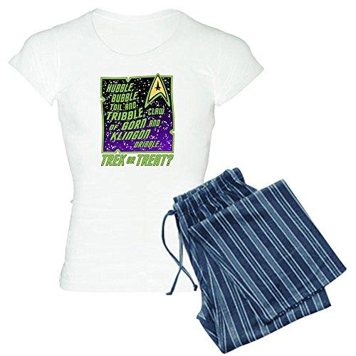 CafePress Trek Or Treat? Pajamas Womens Novelty Cotton Pajama Set, Comfortable PJ Sleepwear