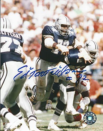 8x10 Photo Ed Autographed - Autographed Ed Too Tall Jones 8x10 Dallas Cowboys Photo