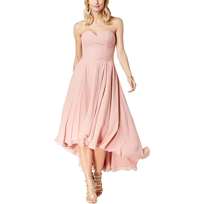 ea5e66b288 Fame and Partners Womens The Jerrey Strapless Semi-Formal Dress Pink ...