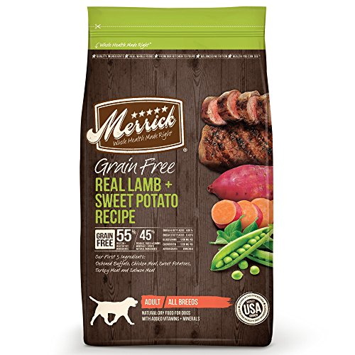 Merrick Grain Free Real Lamb & Sweet Potato Dry Dog Food, 12 lbs.