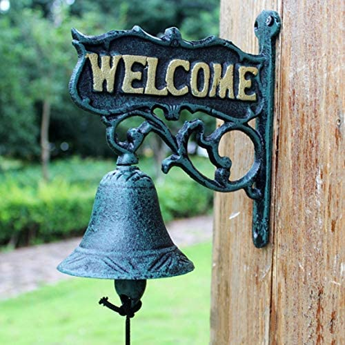 CKH ようこそノルウェーの田舎で両面ハンギングドアベルと手指輪ベルと歓迎の鉄製のドアベル