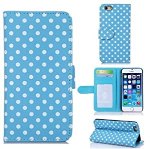Andre-case iPhone 4 4s case cover,Canica#04 iPhone 4 4s case cover,iPhone 4 4s leahter,iPhone 4 4s leather case cover,Blue Polka Dot Book Style Design Slim Fit Flip wallet leather with stand Tloqjpa0y2x case cover for iPhone 4 4s Inch