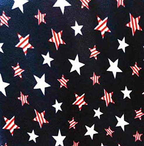 American Patriotic Stars Allover Fleece Fabric - 2 yards