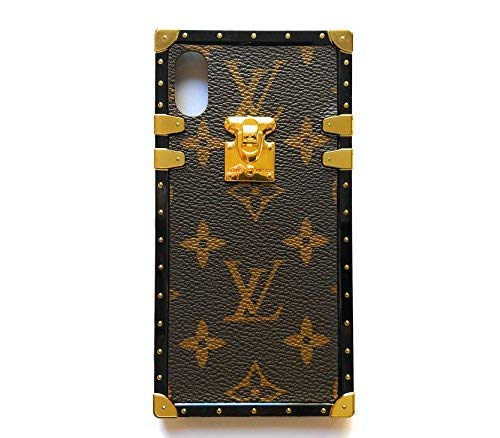 New Vintage Trunk Luxury Monogram for iPhone. Handmade with Premium Silicone. Soft Flexible Anti-Scratch Drop Protection. (iPhone Xs MAX[6.5''])