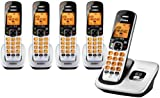Uniden D1760 1.9Ghz DECT 6.0 Cordless Handset Telephone + 4 Additional DCX170 Cordless Handsets