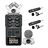 zoom h6 module - Zoom H6 Handy Recorder Interview Microphone Kit with Boya Omnidirectional and Cardioid XLR Lavalier Microphones