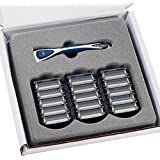 Personna Men's 3 Blade Razor with Bulk Razor Pack of 15 Replacement Cartridges and Shaving Razor Handle