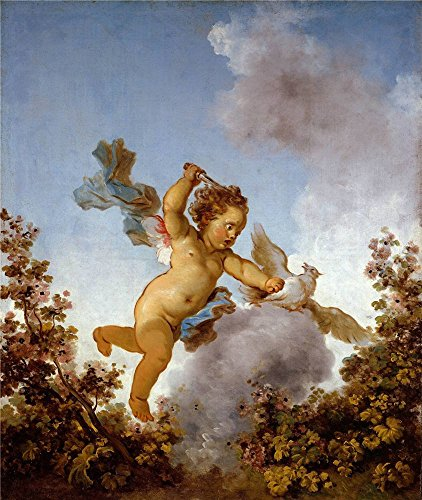 The Perfect Effect Canvas Of Oil Painting 'Jean-Honore Fragonard - The Progress Of Love - Love The Avenger, 1790-91' ,size: 18x21 Inch / 46x54 Cm ,this Vivid Art Decorative Canvas - Video Flash Nude