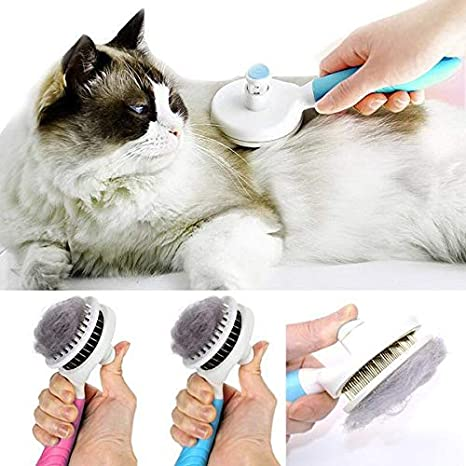 Instom Pet Self-Cleaning Needle Comb Dog Massage Brush Cat Hair Removal Grooming Tool Combs