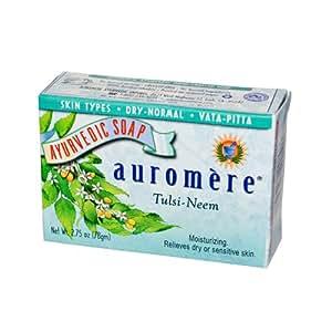 Auromere Ayurvedic Bar Soap Tulsi-Neem -- 2.75 oz