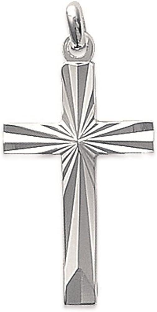 22 x 14 mm Tata Gis/èle Pendentif en Argent 925//000 Rhodi/é Croix Catholique avec Christ