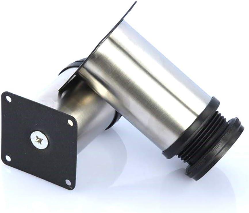 Gesamt: 80-95mm Chrom Metall 8x Qrity Schrank Beine K/üche F/ü/ße Arbeitsplatte // Einheit // Fr/ühst/ück Bar // Schreibtisch Tischbeine M/öbel Beine H/öhenverstellbar