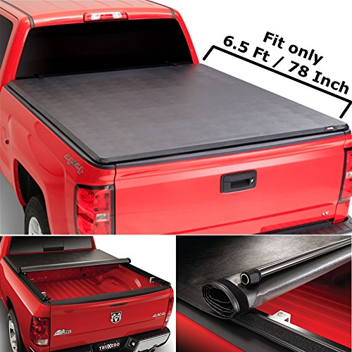 Super Drive RT039 Roll & Lock Soft Tonneau Truck Bed Cover For 2007-2013 Toyota Tundra 6.5' / 78