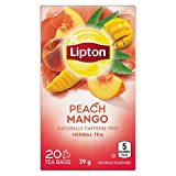 Lipton White Tea Peach and Mango Pyramid Tea Bags, 20 Count