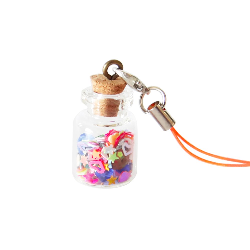Mini tarros de cristal botellas w/tapón de corcho, libre ...