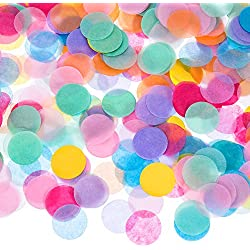 Outus 1 Inch Multicolor Round Tissue Confetti, 10000 Pieces