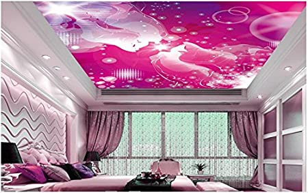 Malilove 3D Wallpaper 3D Ceiling Wallpaper Wall Paper Red Abstract ...