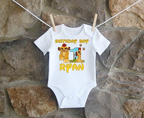 Lion Guard Birthday Shirt, Lion Guard Birthday Shirt For Boys, Personalized Boys Lion Guard Birthday Shirt by Lil Lady Treasures