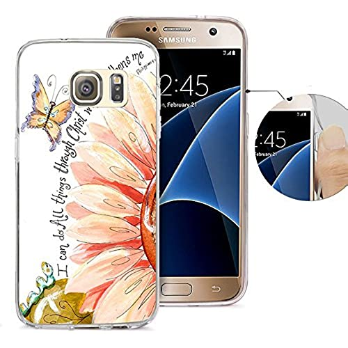 S7 Case Samsung Galaxy S7 Case Viwell Soft Case Rubber Silicone Quotes I can do all things through christ who strengthens me. Sales