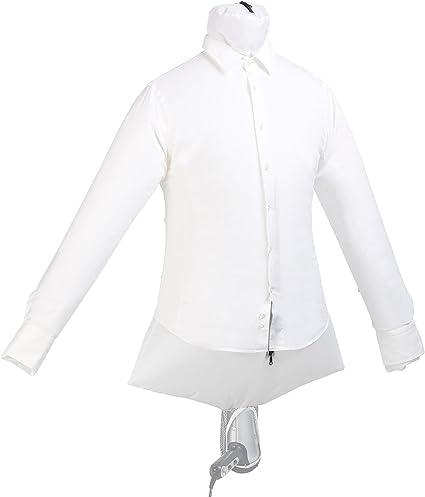 Sichler Haushaltsgeräte Secador de camisa: Muñeca de planchado de viaje 2 en 1 con percha para secador de pelo, seca y suaviza (Muñeca de planchar de ...