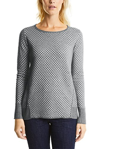 Grau Structure Cecil 20150 silver Melange Femme Pull Pullover PfHwq61