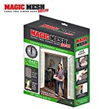 Magic Mesh Double Door- Hands Free Magnetic Screen Door, Fits French & Sliding Doors 75 in x 83 in