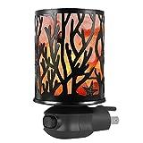 Syntus Himalayan Salt Lamp Natural Pink Salt Rock Lamps Metal Basket Lamp Glow Hand Carved Night Lights Wall Light with Sculptured Iron Basket, 2 Bulbs for Lightin, Branch