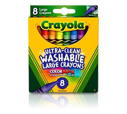Crayola Washable Crayons - Large - 8 Colors - 2 Packs