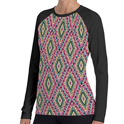 LIFEDZYLJHGO Long Sleeve Striped Tops for Women Round Neck T-Shirt S-XXL -
